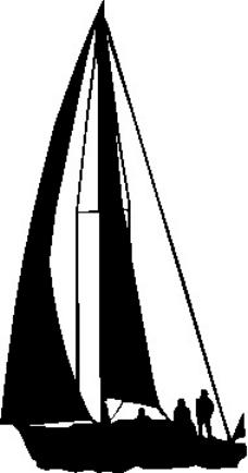 帆船人物矢量图
