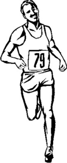 动物运动会跑步背景简笔画