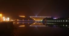 梅山水库夜景图片