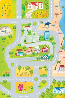 街道积木图片