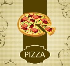复古西式餐饮海报矢量图片