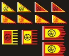 龙旗 庙旗图片