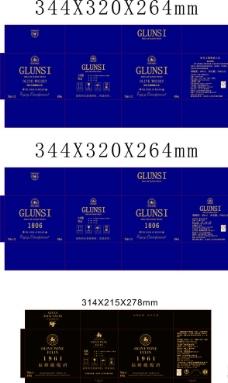 威士忌方形盒外箱图片