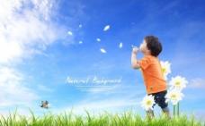 幸福童年图片