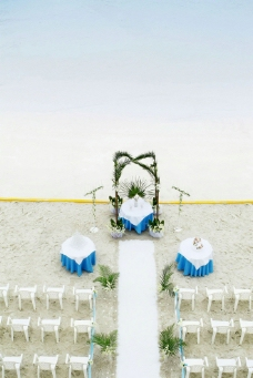 海滨婚礼图片