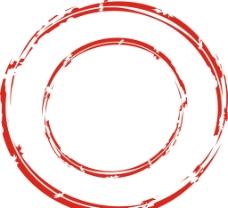 红色残缺圆图片