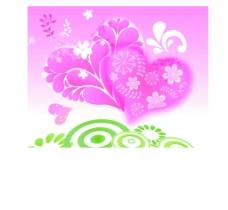 爱心鲜花图案图片