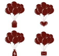 气球 横幅矢量图片