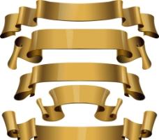 金色丝带矢量素材图片