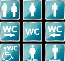 厕所标志图片