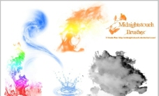 水墨 水波 火焰效果图片