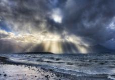 自然集束光图片
