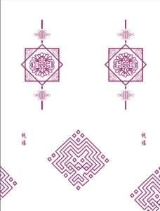 祝福 花纹 中国结图片图片