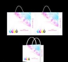 色彩行业手提袋设计图片