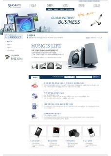 韩国网页设计模板图片