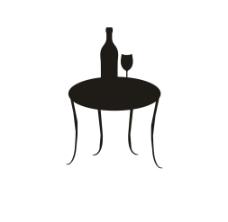 桌子 红酒图片