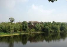 湖边 豪宅图片