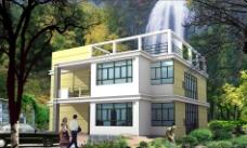 二层农村房屋 别墅图片