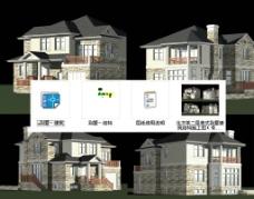 二层别墅施工图效果图图片
