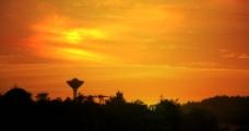 黄昏景观图片