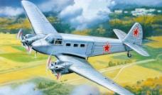 手繪軍事飛機圖片