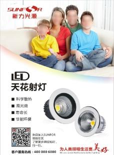 LED射灯宣传海报图片