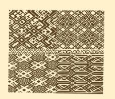 瑶族织花图案图片