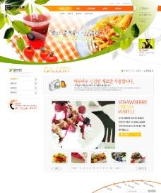 美食网页设计模板图片