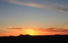 沙漠霞光图片