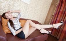 气质腿模OL装图片