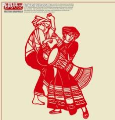 拉祜族剪纸图片