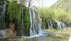 九寨沟 山水 瀑布图片