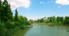 湖边风光图片