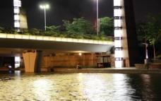 中山公园夜景图片