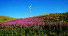 山峰风电风景图片