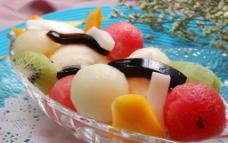 芒果香草冰淇淋水图片