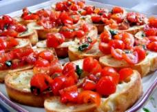 西红柿面包图片