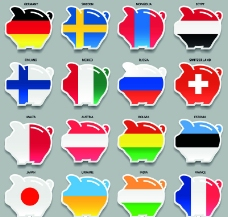 国旗图案储蓄罐图片
