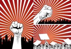 拳头抗议系列矢量素材