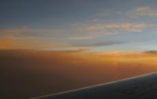 飞机上的夕阳图片