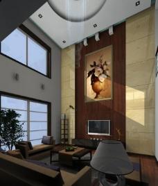 客厅室内模型图片