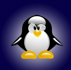 卡通水晶企鹅图片