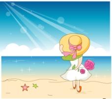 海边的美女