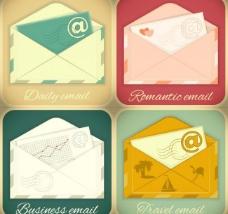 信封与标签矢量素材图片
