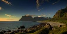 傍晚海边风景图片