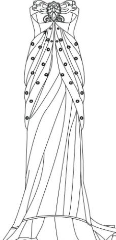 裙子款式设计图图片展示