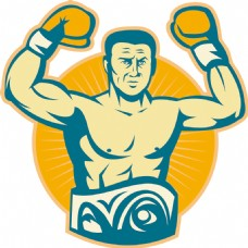 拳击冠军和冠军腰带