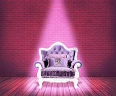 紫色沙发背景