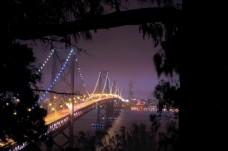 晚上背景桥