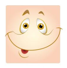 可爱的笑容盒的笑脸